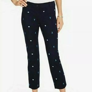 Talbots The Perfect Crop Curvy Fit Lobster Pants
